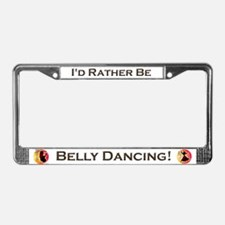 Cute Bellydancing License Plate Frame