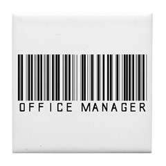 Office Manager Barcode Tile Coaster