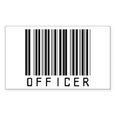 Officer Barcode Rectangle Decal