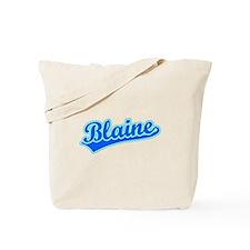 Retro Blaine (Blue) Tote Bag