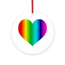 SUPER GAY RAINBOW Ornament (Round)