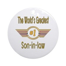 Number 1 Son-in-law Ornament (Round)