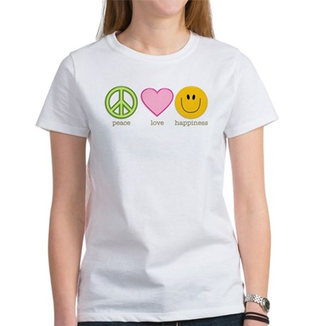 Peace Love & Happiness Women's T-Shirt