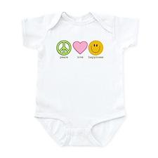 Peace Love & Happiness Infant Bodysuit