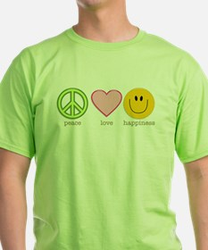 Peace Love & Happiness T-Shirt