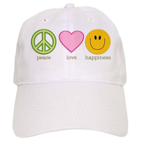 Peace Love & Happiness Cap