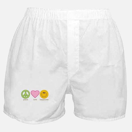 Peace Love & Happiness Boxer Shorts