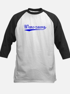 Vintage Warszawa (Blue) Kids Baseball Jersey