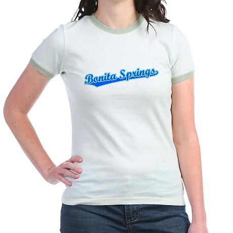 Retro Bonita Springs (Blue) Jr. Ringer T-Shirt