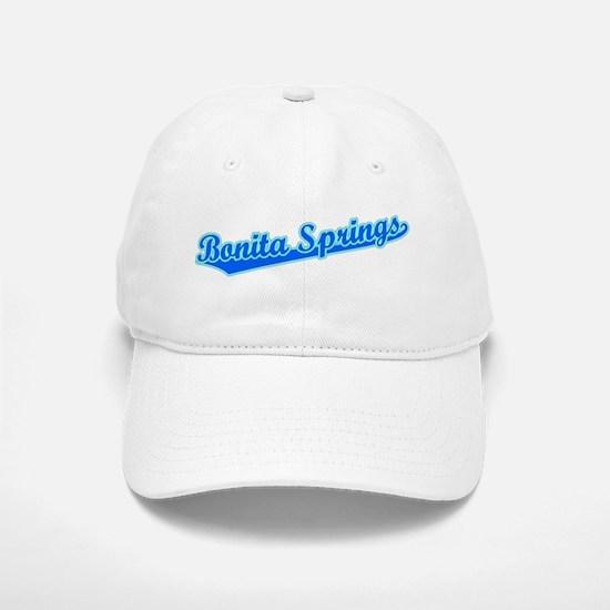 Retro Bonita Springs (Blue) Baseball Baseball Cap
