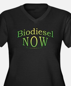 Biodiesel NOW! Women's Plus Size V-Neck Dark T-Shi