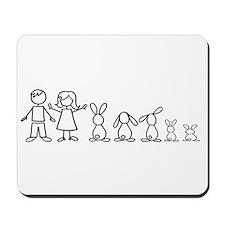 5 bunnies family Mousepad