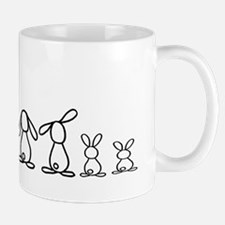 5 bunnies family Mug
