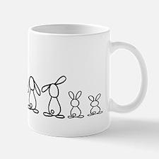 5 bunnies family Small Small Mug