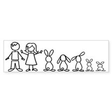 5 bunnies family Bumper Bumper Sticker