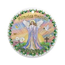 """Miracles Happen"" with an Angel Ornament"