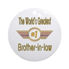 Number 1 Brother-in-law Ornament (Round)
