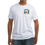 One Cat Laughing Fitted T-Shirt