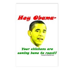 """""""Obama's Chickens"""" Postcards (Package of 8)"""