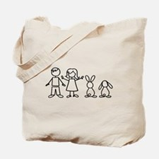 2 bunnies family Tote Bag