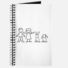 2 bunnies family Journal