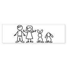 2 bunnies family Bumper Bumper Sticker