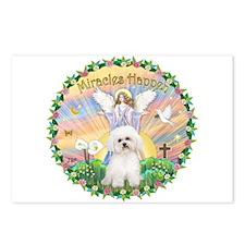Miracles - Bichon Frise (2) Postcards (Pk of 8)