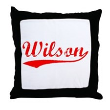 Vintage Wilson (Red) Throw Pillow