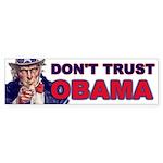 Don't Trust Obama Bumper Sticker