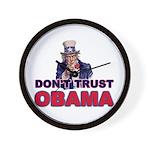 Don't Trust Obama Wall Clock