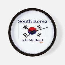 South Korea - Heart Wall Clock