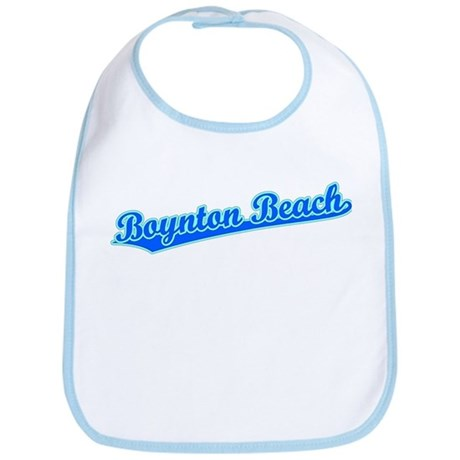 Retro Boynton Beach (Blue) Bib