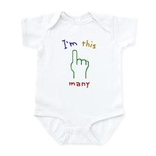 I'M THIS MANY 1st Birthday Infant Bodysuit