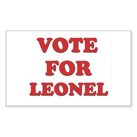 Vote for LEONEL Rectangle Sticker