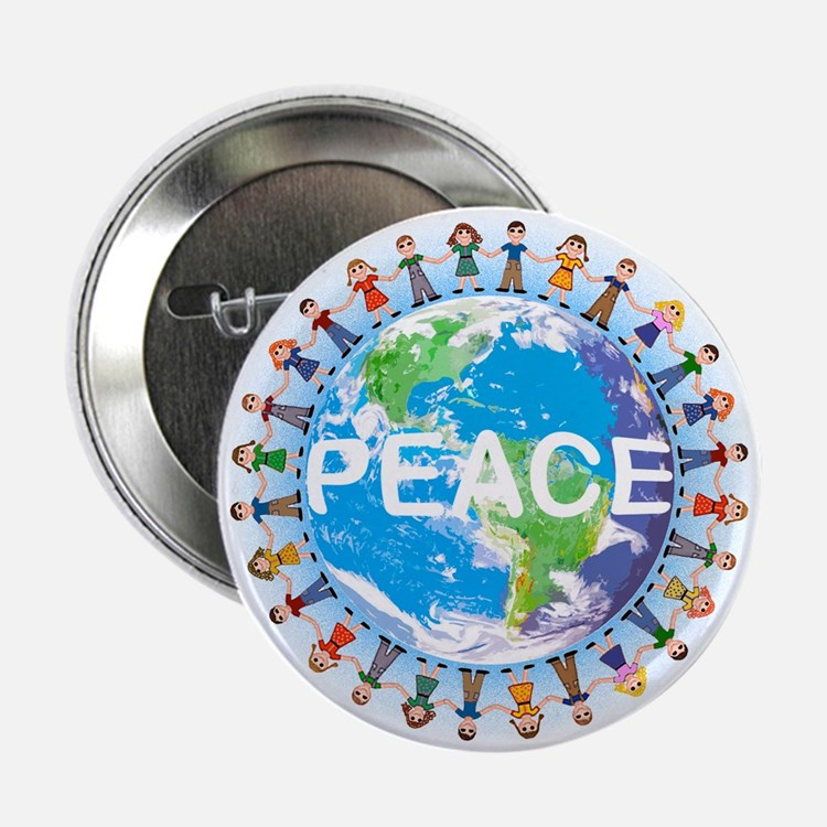 World Peace Button Badge ( we have T-SHIRTS )