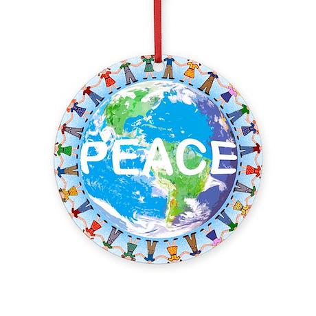 World Peace ceramic Christmas ornament
