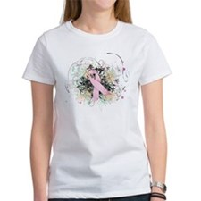 Pink Ribbon Abstract Tee