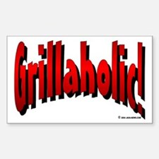 Grillaholic Rectangle Decal