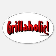Grillaholic Oval Decal