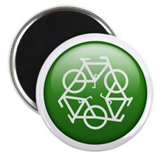"""Recycle Bicycle 2.25"""" Magnet (100 pack)"""
