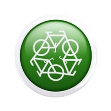 "Recycle Bicycle 3.5"" Button"