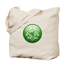 Recycle Bicycle Tote Bag