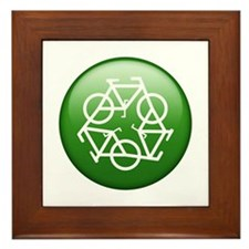 Recycle Bicycle Framed Tile
