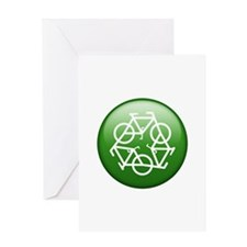 Recycle Bicycle Greeting Card