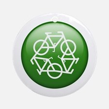 Recycle Bicycle Ornament (Round)