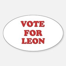 Vote for LEON Oval Decal