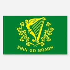 Erin Go Bragh Flag Rectangle Decal