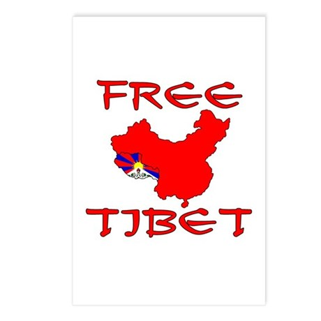 Free Tibet with Map Postcards (Package of 8)