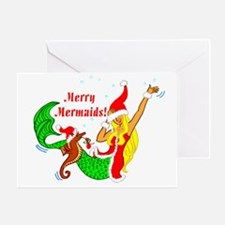 Merry Mermaids Greeting Card