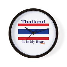 Thailand - Heart Wall Clock